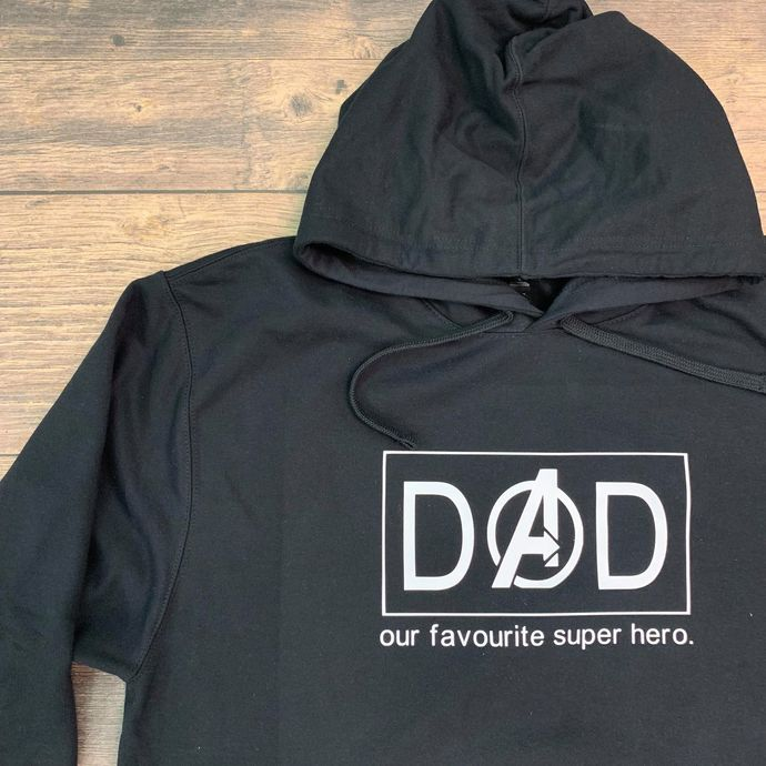 Fathers Day Shirt- DAD Super hero with Box