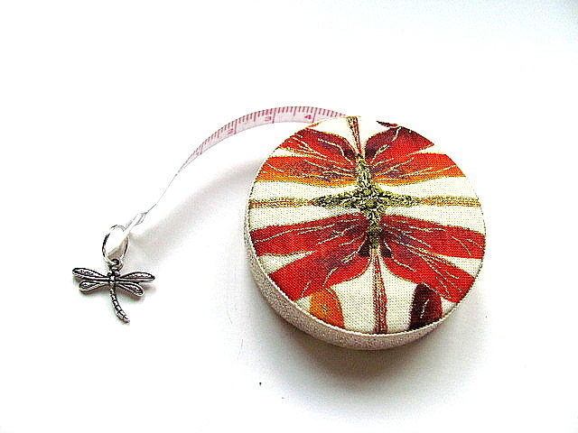 Tape Measure Gold Dragonflies Retractable Measuring Tape