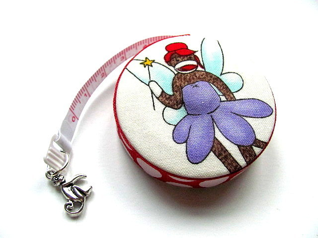 Tape Measure Sock Monkey Fairy Angels Measuring Tape