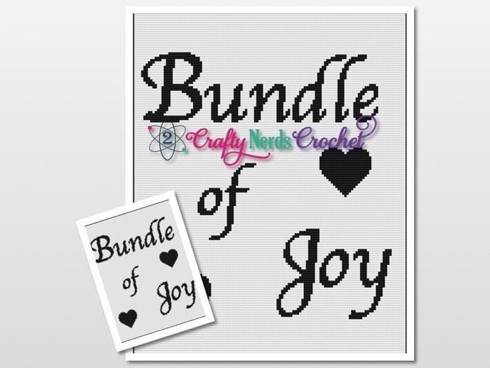 Bundle Of Joy Pattern Graph With Single Crochet Written