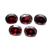 Orissa Garnet Semi Precious Faceted 10 x 8 mm Oval flawless Loose Gemstone