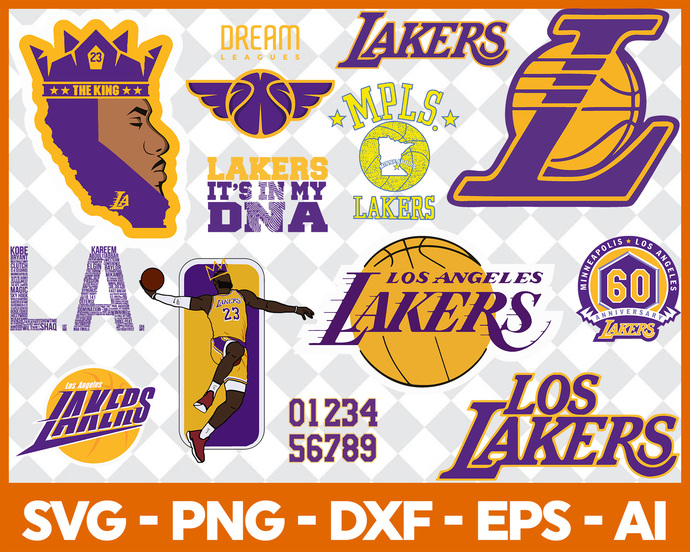 Los Angeles Lakers Svg Lakers Svg By Digitalbigsvg On Zibbet
