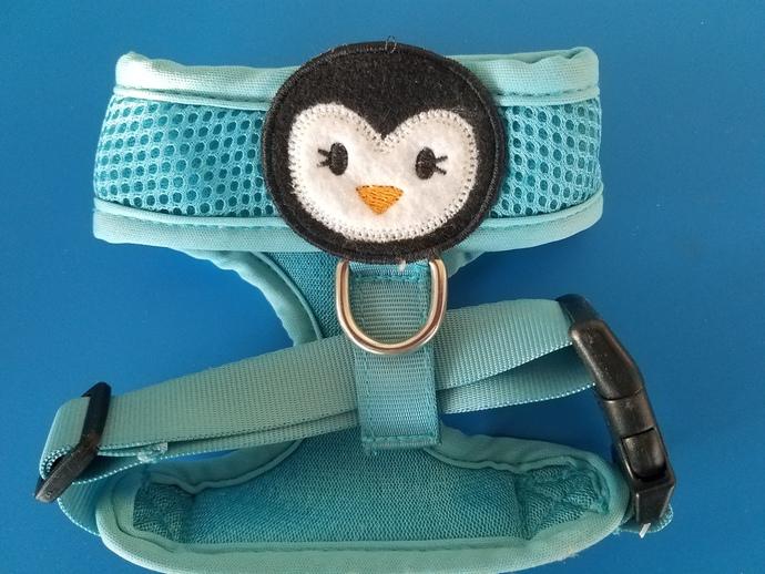 XS Perky Penguin Mesh Dog Harness