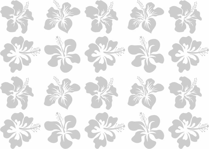 20 Hibiscus Blossom - Coastal Design Series - Etched Decal - For Shower Doors,