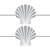 Scallop Shell and Simple Border - Coastal Design Series - Etched Decal - For