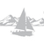 Lake Solitude - Coastal Design Series - Etched Decal - For Shower Doors, Glass