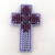 Shades of Purple Christian Cross Ornament double sided hanging