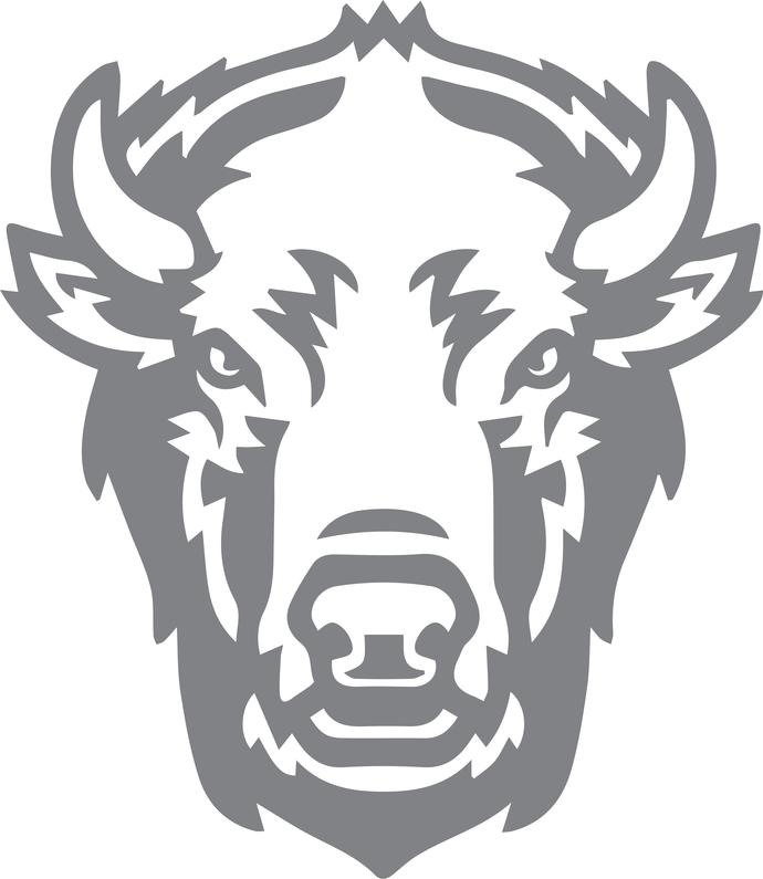 Bull Mount - The Great Outdoors Series - Etched Decal - For Shower Doors, Glass