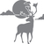 Day of the Caribou - The Great Outdoors Series - Etched Decal - For Shower