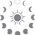 Phases - The Great Outdoors Series - Etched Decal - For Shower Doors, Glass