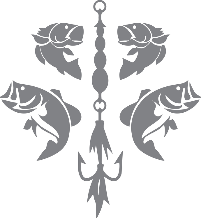 World of a Fisherman - The Great Outdoors Series - Etched Decal - For Shower