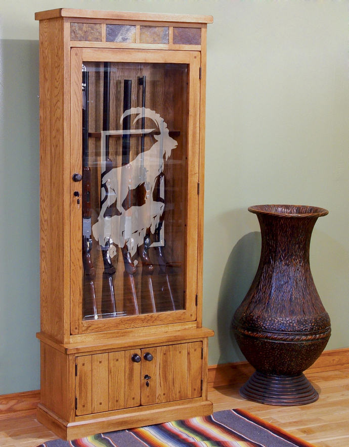 Goat's World - The Great Outdoors Series - Etched Decal - For Shower Doors,