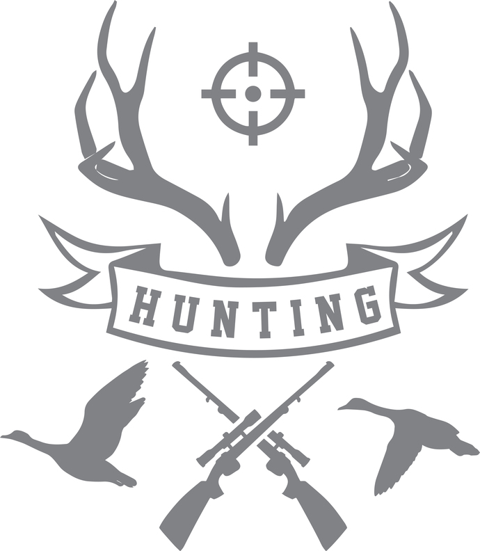 Symbols of the Hunter - The Great Outdoors Series - Etched Decal - For Shower