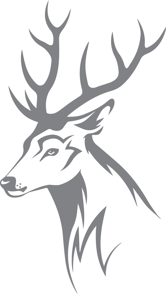 Woodland Royalty - The Great Outdoors Series - Etched Decal - For Shower Doors,
