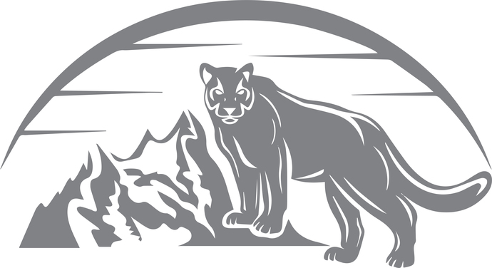 Panther Sunrise - The Great Outdoors Series - Etched Decal - For Shower Doors,