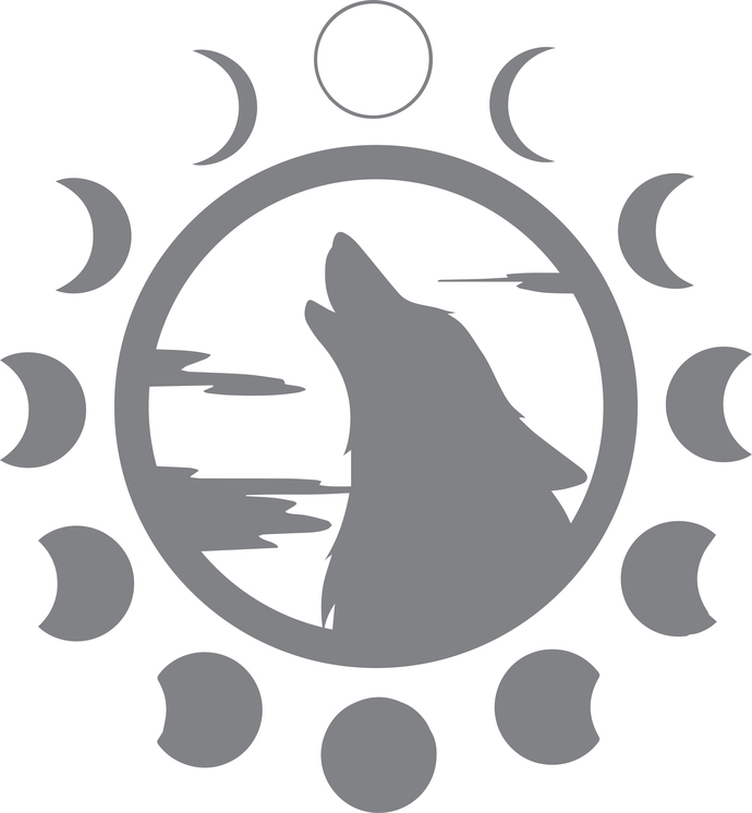Nightly Howl - The Great Outdoors Series - Etched Decal - For Shower Doors,