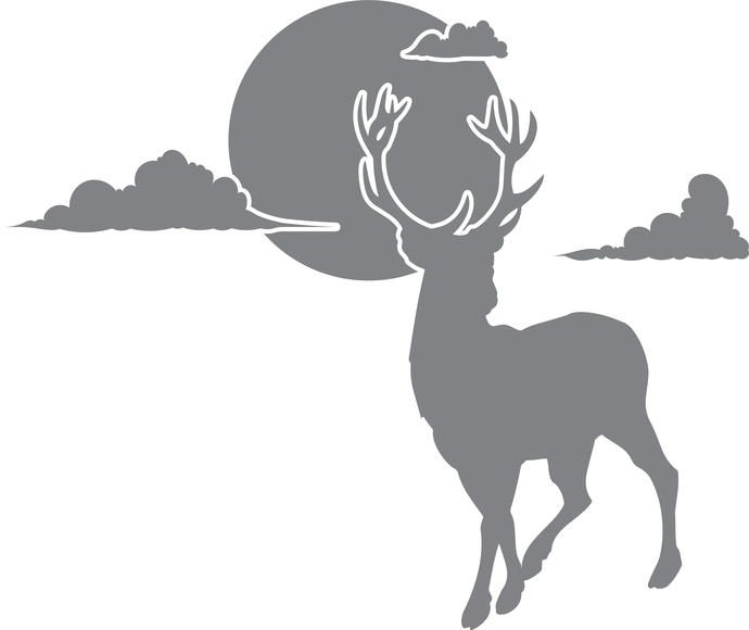 Day of the Deer -The Great Outdoors Series - Etched Decal - For Shower Doors,