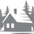 Forest Lodge - The Great Outdoors Series - Etched Decal - For Shower Doors,