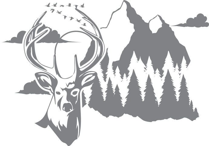 Forest Watch - The Great Outdoors - Etched Decal - For Shower Doors, Glass
