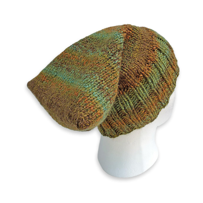 Adult Knitted Winter Cap, Green