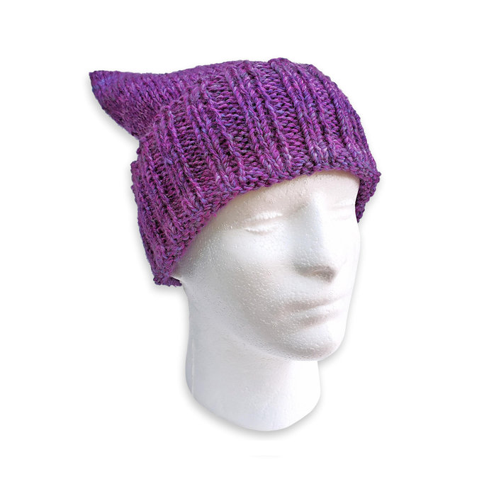 Adult Knitted Winter Cap, Purple
