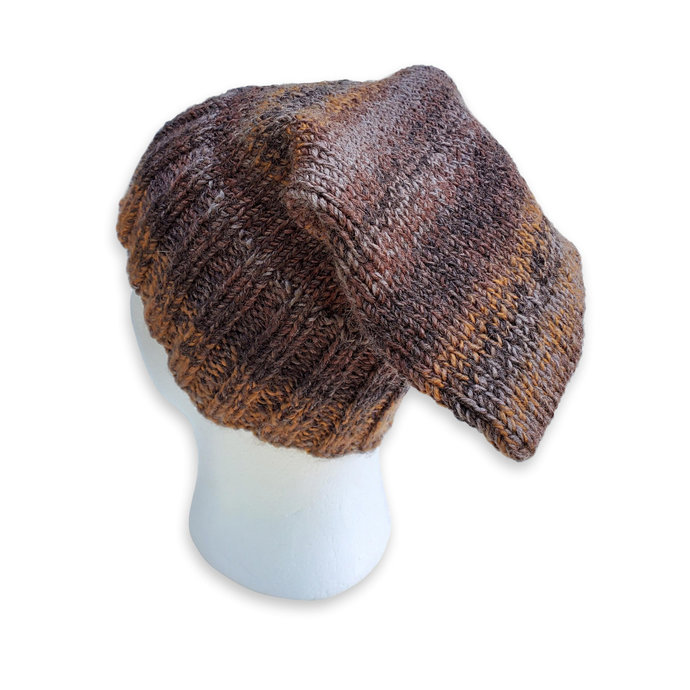 Unisex Knitted Hat, Brown