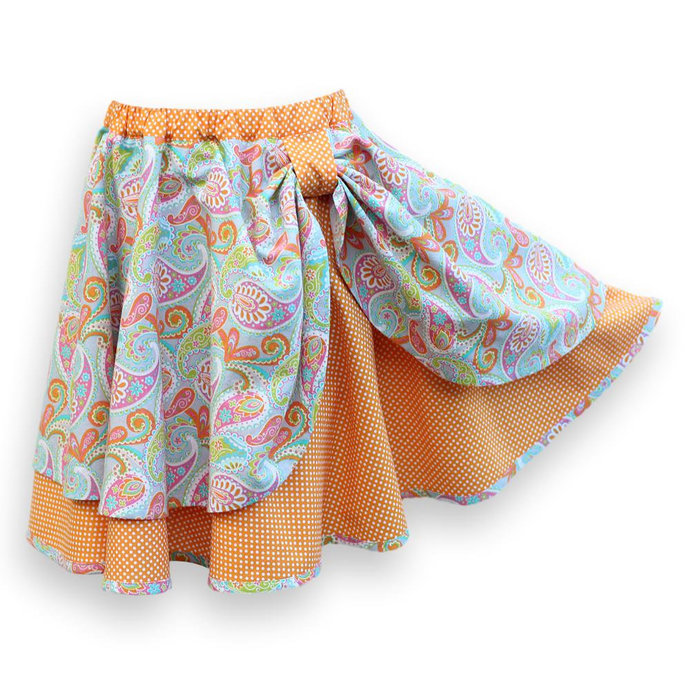 Circle Skirt for Girl, Paisley