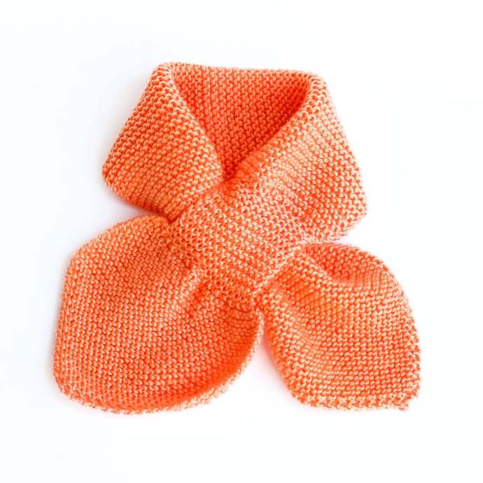 Knit Scarf, Orange