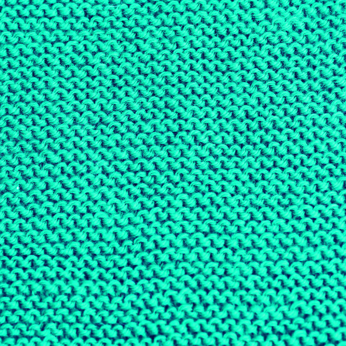 Knit Scarf, Turquoise