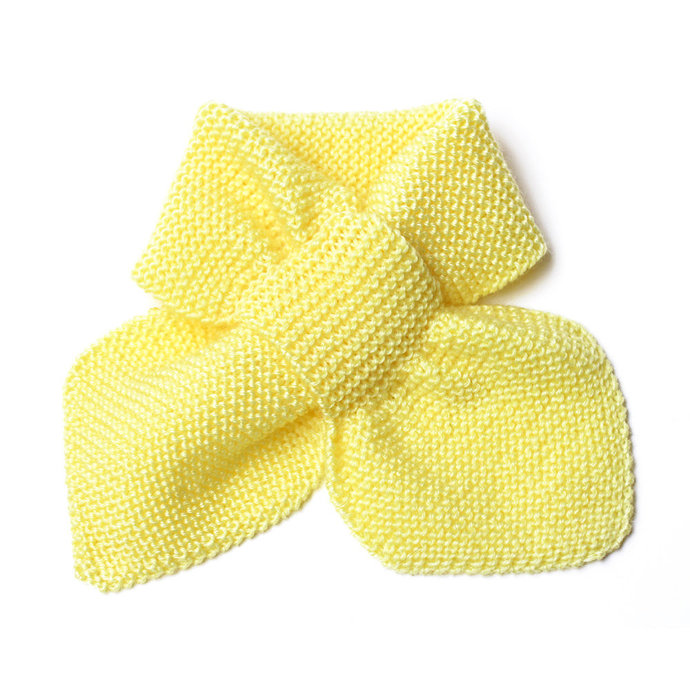 Knit Scarf, 2 to 4 Years, Yellow