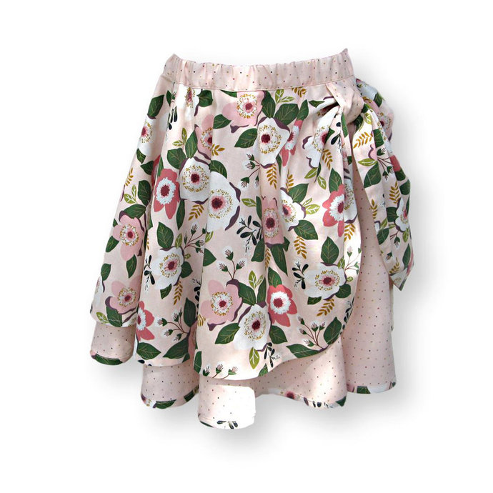 Circle Skirt, Girl's Size 6 Pink Floral
