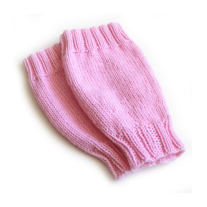 Pink Leg Warmers. Toddler 12 Months Over the Knee Leggings. Baby Girl Leg Wear.