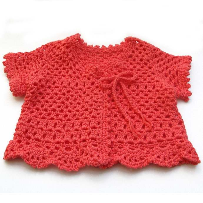 Sweater Short Sleeve Summer, Coral