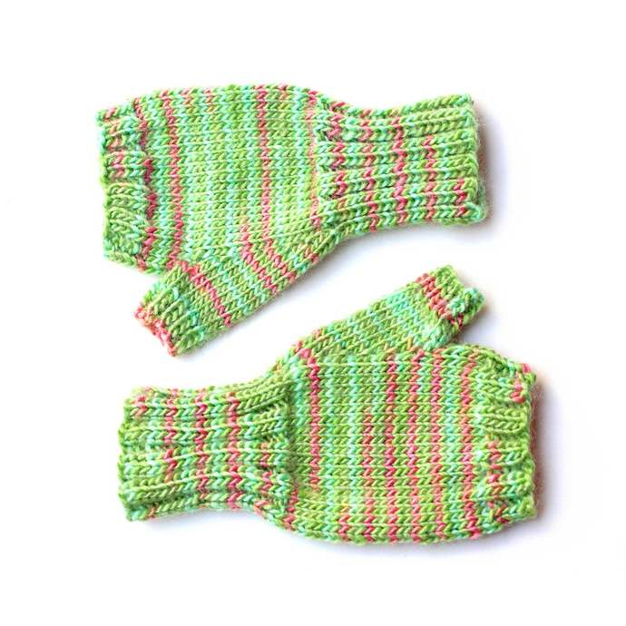 Fingerless Gloves, 12 to 18 Months