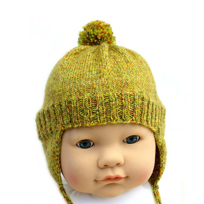Ear Flap Hat and Mitten Set