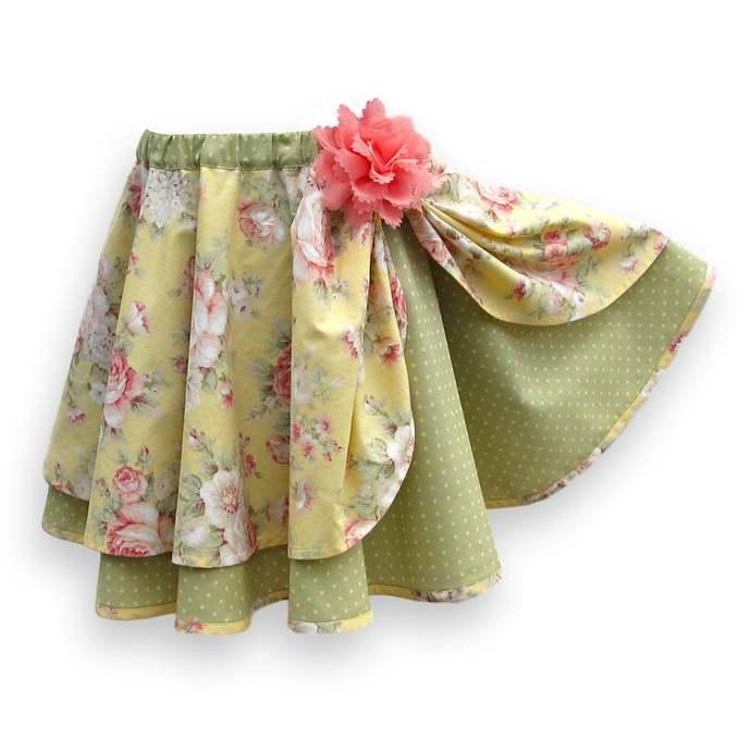 Circle Skirt Elastic Waist, Girl's Size 6