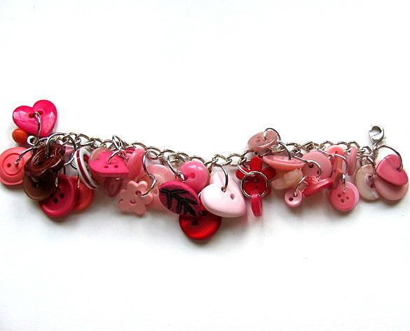 All About The Buttons Pink Button Bracelet FREE US Shipping