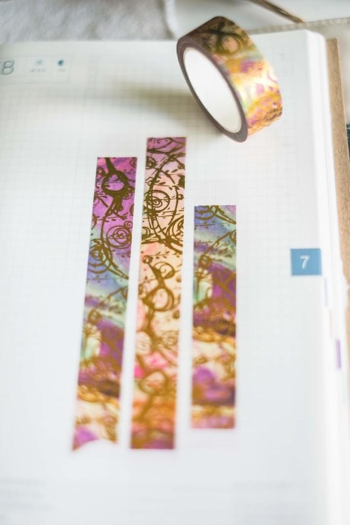 Messy Expressions - 1.5 cm wide foil washi tape 10m - original design, perfect