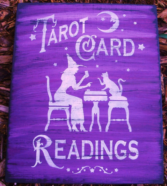 Witches Signs Cats Tarot Card readings halloween decorations party Astrology