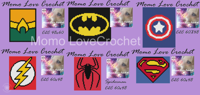 Superhero Bundle C2C 60x48