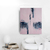 modern abstract, Industrial Decor, Loft Art, acrylic on canvas, pink and navy