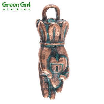Green Girl Studios Captive Heart Pendant