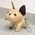 Gold LV dog keychain - Repurposed Louis Vuitton - Louis Vuitton keychain - LV