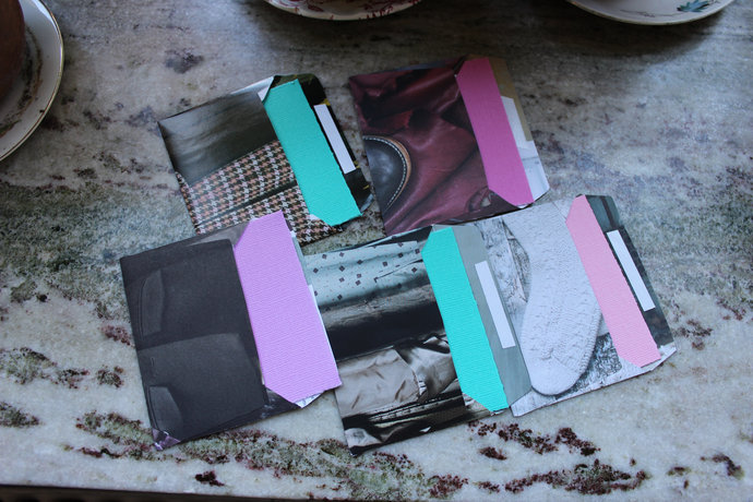 Note cards with handmade envelopes - Textiles & Textures - Pack of 5