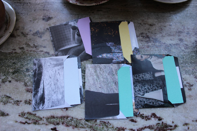 Note cards with handmade envelopes - Textures  & Faces Pack of 5