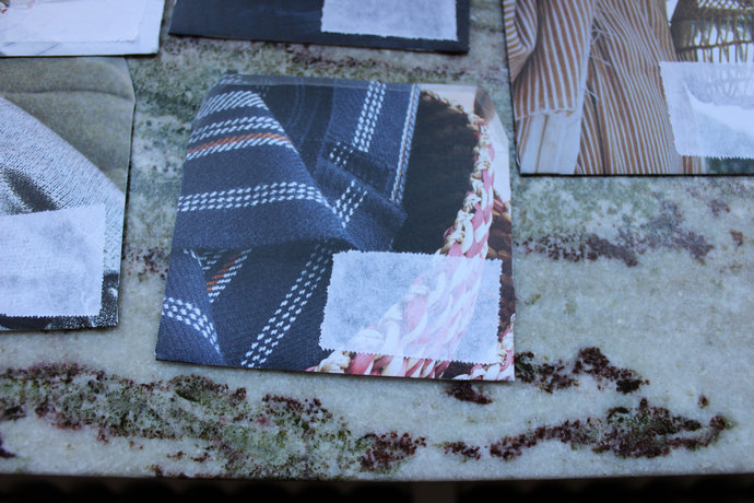 Note cards with handmade envelopes - Textile Textures Pack of 5