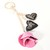 Repurposed Authentic Louis Vuitton - Upcycled Louis Vuitton rose Keychain -