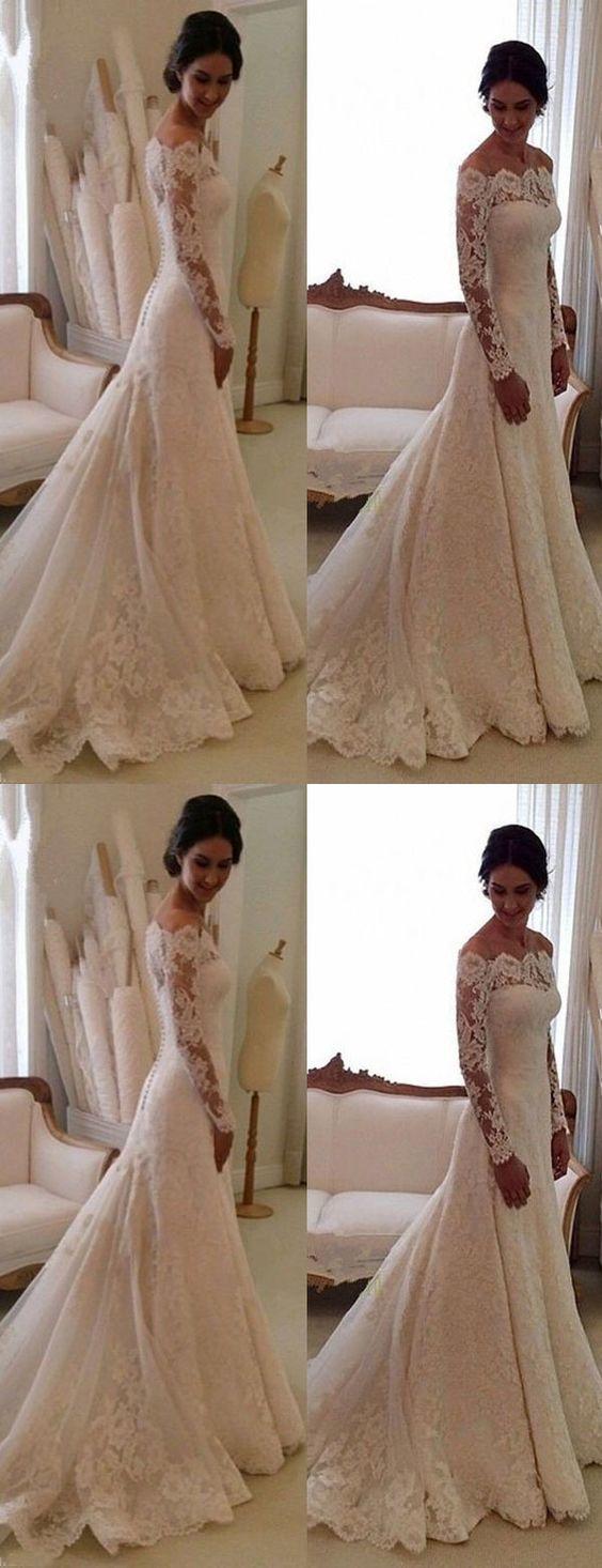 Elegant  wedding dress,Long Sleeves wedding dresses
