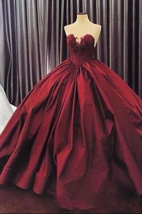 Burgundy wedding dress,maroon ball gowns wedding gowns