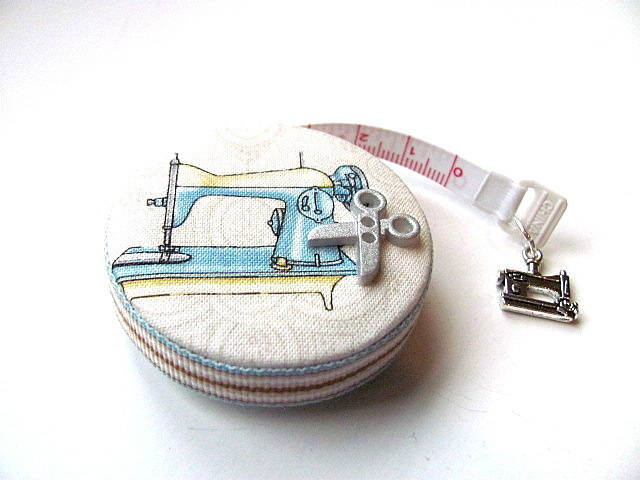 Measuring Tape Retro Sewing Machines RetractableTape Measure
